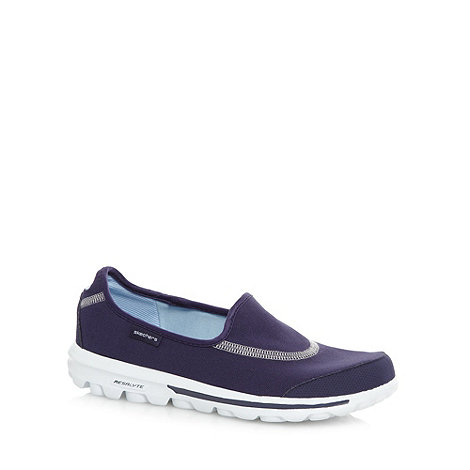 Skechers - Navy +GOwalk Original+ washable slip on shoes