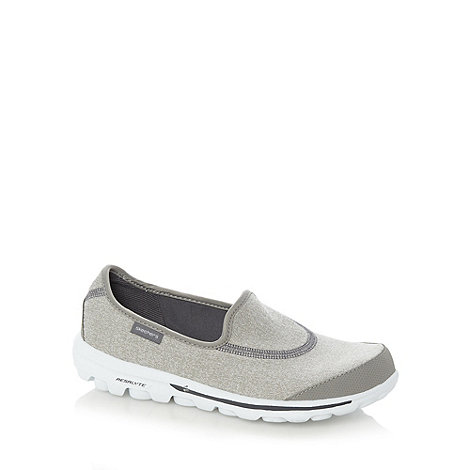 Skechers - Grey +GOwalk Original+ washable slip on shoes