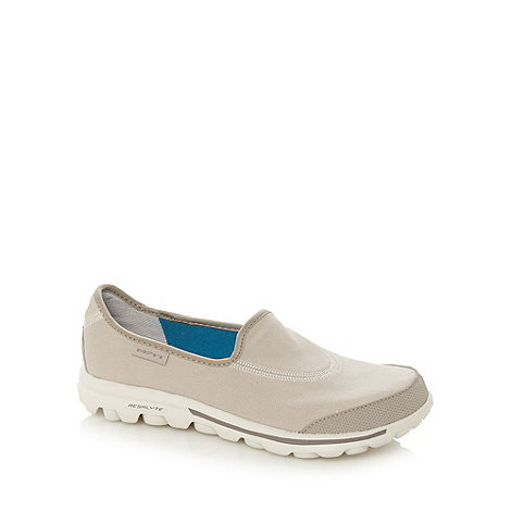 Skechers - Natural +GOwalk Original+ washable slip on shoes