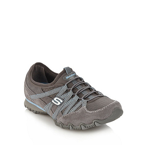 Skechers - Grey +Bikers Verified+ bungee shoes