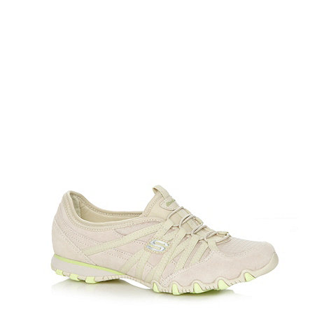 Skechers - Natural +Bikers Verified+ slip on trainers