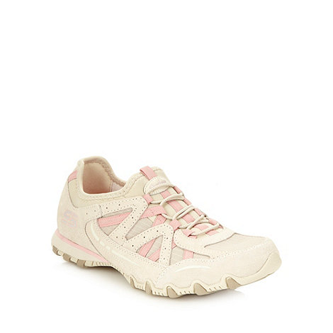 Skechers - Cream +bikers equation+ trainers