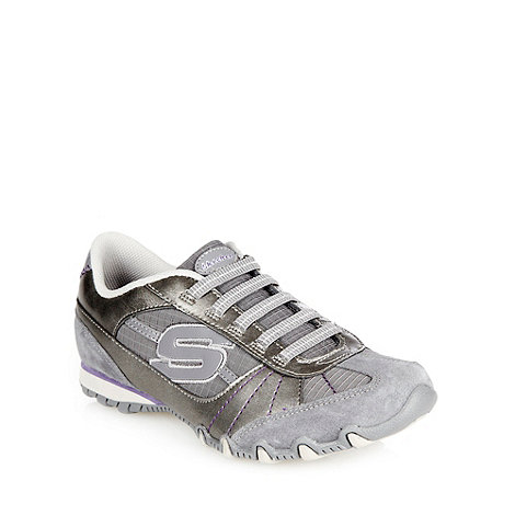Skechers - Silver metallic +bikers vexed+ trainers