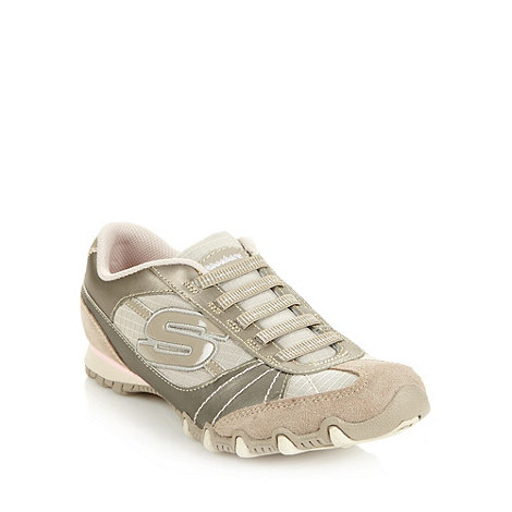 Skechers - Taupe +bikers vexed+ trainers