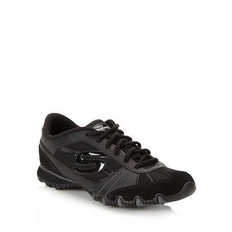 Skechers - Black +bikers pop life+ trainers
