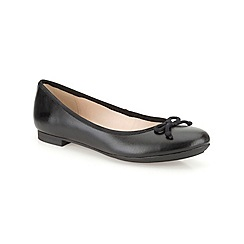 Clarks - Black 'Carousel Ride' leather pumps