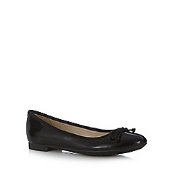 Clarks - Black patent 'Carousel Ride' pumps