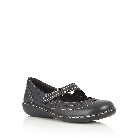 Clarks - Black wavy stab stitched pumps