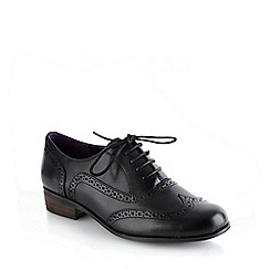 Clarks - Black leather 'Hamble Oak' brogues