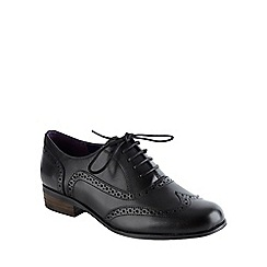 Clarks - Black 'Hamble Oak' leather patent brogues