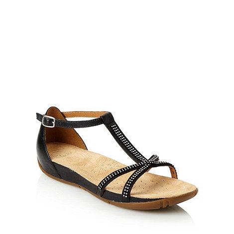 Clarks - Black +rona+ low diamante stone sandals