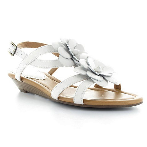 Clarks - White low +santa gift+ leather sandals