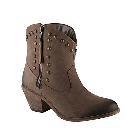 Call It Spring - Taupe +faticka+ studded ankle boots