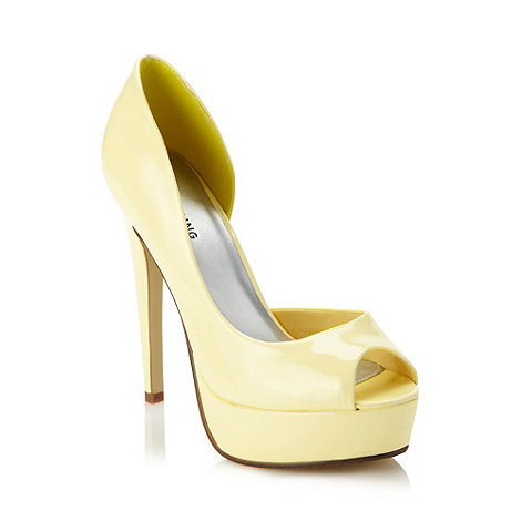 Call It Spring - Light yellow patent faux leather high court shoes