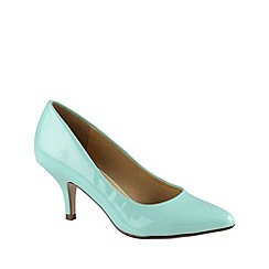 Call It Spring - Light green patent pointed toe mid heel 'roessing' court shoes