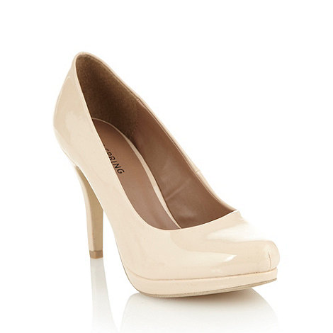 Call It Spring - Cream patent high heeled court shoes