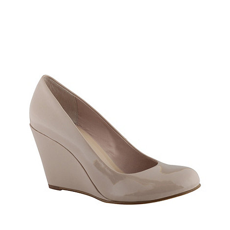 Call It Spring - Nude leatherette high heel round toe +foroumba+ wedge shoes