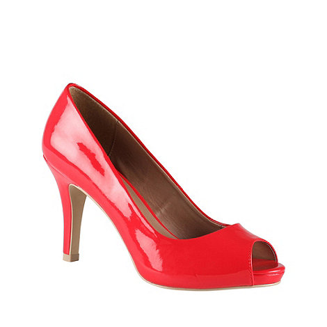 Call It Spring - Red +luella+ patent peep toe court shoes