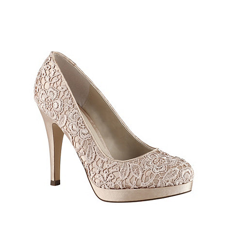Call It Spring - Natural +carlosa+ lace court shoes