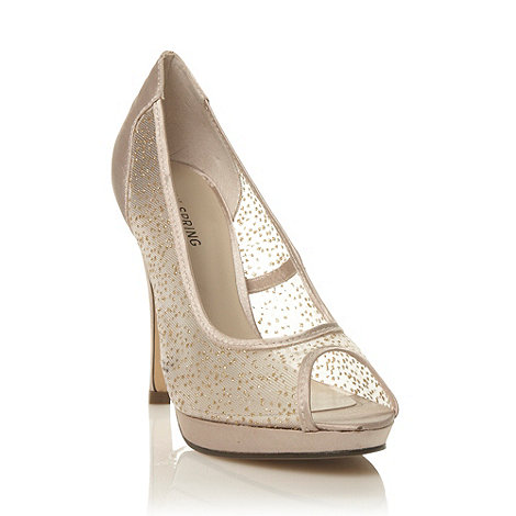 Call It Spring - Light gold +wortinger+ meshed high heel court shoes