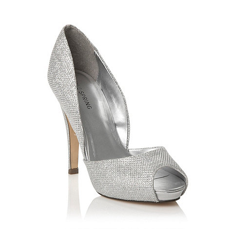 Call It Spring - Silver peep toe +matrisciano+ high heeled court shoe