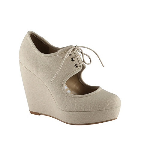 Call It Spring - Natural +houseman+ cut-out platform wedges