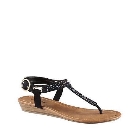 Call It Spring - Black 'hoaglin' studded sandals