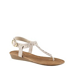 Call It Spring - Beige 'hoaglin' studded sandals