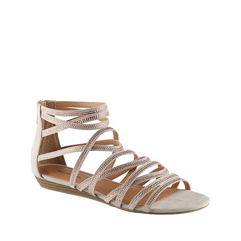 Call It Spring - Beige +lin+ embellished strap gladiator sandals