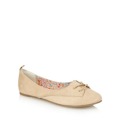 Call It Spring - Natural laced round toed pumps