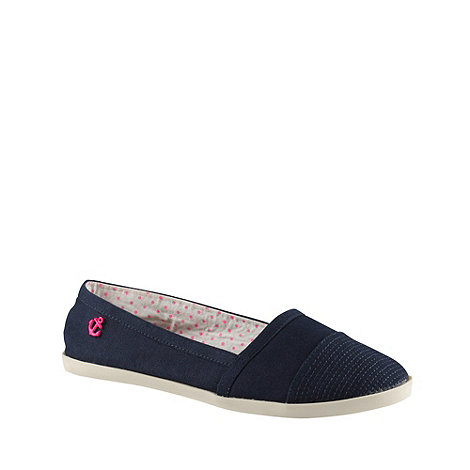 Call It Spring - Navy blue 'depaulis' canvas shoes with anchor detail