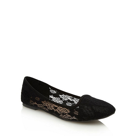Call It Spring - Black +ramya+ lace pumps