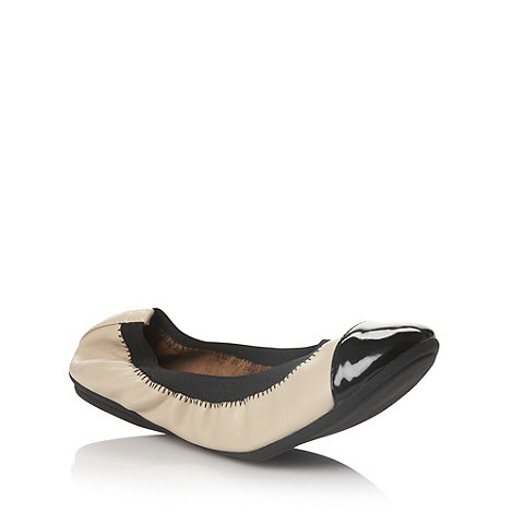Call It Spring - Nude leatherette capped toe  +peppin+ ballet flats