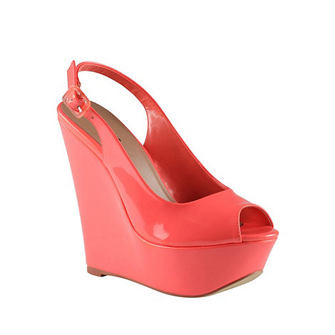 Call It Spring - Coral +gael+ high wedge platform court shoes