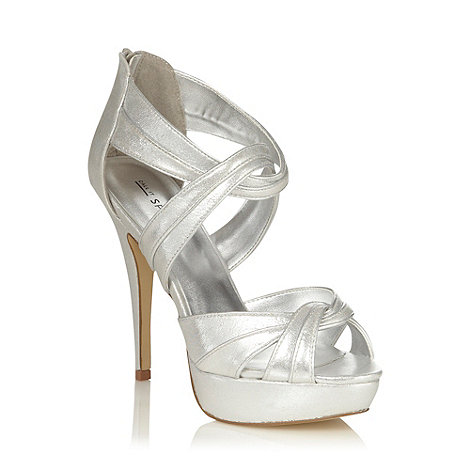 Call It Spring - Silver textured strapped high heeled sandals