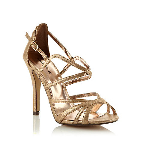 Call It Spring - Bronze high heeled open toed metallic sandals