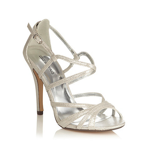 Call It Spring - Silver high heeled open toed metallic sandals