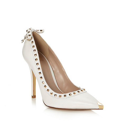 Truth or Dare - White 'floriku' court shoes