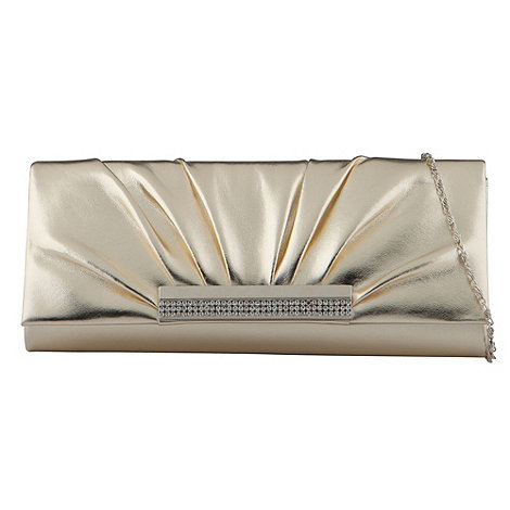 Call It Spring - Light gold 'navarrete' clutch bag