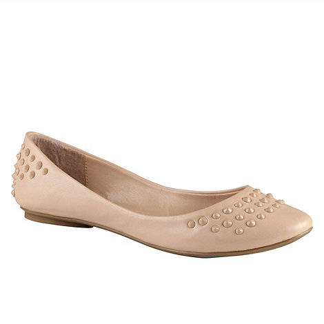 Call It Spring - Cream +armelienne+ studded flat pumps