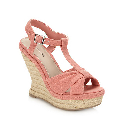 Call It Spring - Coral +marceli+ wedge heeled sandals