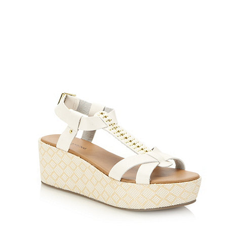 Call It Spring - White +basia+ mid wedge heeled sandals