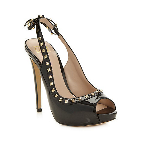 Truth or Dare - Black patent studded high court shoes