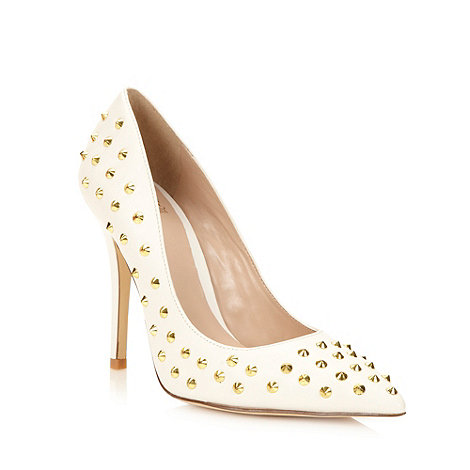 Truth or Dare - White studded high court shoes