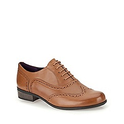 Clarks - Dark tan leather ' Hamble Oak ' brogue