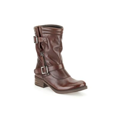 Clarks Brown leather ´ Mezze Rose ´ calf boot - . -
