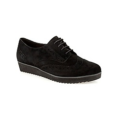 Clarks - Black suede ' Compass Realm ' lace up brogue