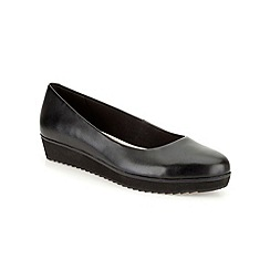Clarks - Black leather ' Compass Zone ' flat pump