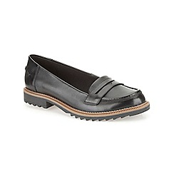 Clarks - Black leather ' Griffin Milly '  flat loafer
