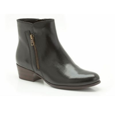 Clarks Black Leather ´ Langdon Place ´ flat ankle boot - . -